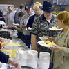 Chow line: Hundreds attending the Wabash Valley Musician's Hall of Fame pass through the food line prior to the inductions Sunday afternoon.