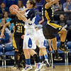Hops: Indiana State's Anna Munn hauls in a loose ball during game action against Wichita State Sunday evening at Hulman Center.