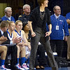 Yes: Indiana State coach Teri Moren shouts instructions to her team as they defend against Wichita State Sunday afternoon in Hulman Center.