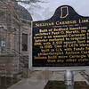Locator: Main entrance to the Sullivan Carnegie Library where there is a traveling Civil War exhibit on display.