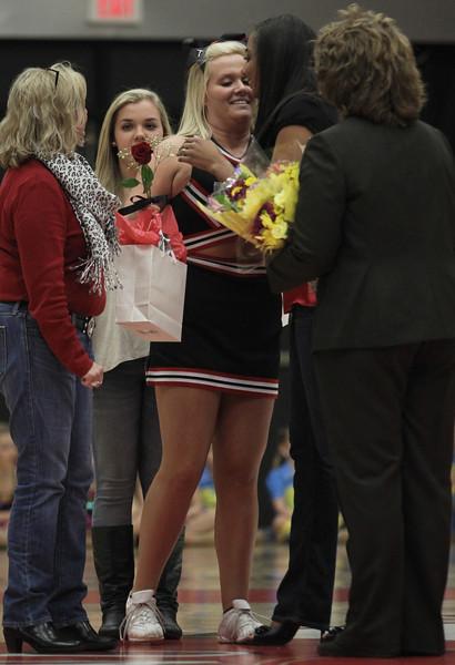 Senior Cheerleader Taylor Campbell