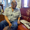 "Tribune-Star/Joseph C. Garza<br /> He laughs about it today: Ezell Odom remembers receiving a letter from his mother during World War II asking how he liked California. ""I was further from California than I had ever been in my life,"" laughed Odom at his home Wednesday."