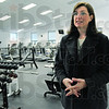 Workout room: Deb Plummer talks with Mark Bennett about the coming Clay County YMCA facility that will be in the former YMCA building at Fairbanks Park.
