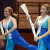 Syncro: Two members of the Terre Haute North Winter Guard perform during Saturday's event at Northview.
