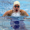 Tribune-Star/Jim Avelis<br /> Individual: Terre Haute South senior Sarah Senseman swims the 200 yard individual medley race in Plainfield Saturday.