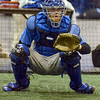 Tribune-Star/Jim Avelis<br /> Right at home:  Indiana State catcher and West Vigo product Jeremy Lucas takes up his position behind the plate for practice Monday afternoon.