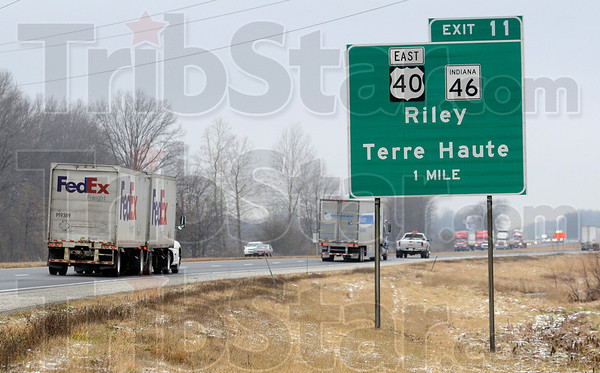 Tribune-Star/Joseph C. Garza<br /> New route coming soon: In 2014, motorists on I-70 will be able to exit off of Exit 11 and drive on the 641 bypass.