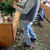 Tribune-Star/Jim Avelis<br /> Arranger: Jim Sims provides part-time help for Cowan & Cook Florists during busy times, like Valentine's Day.