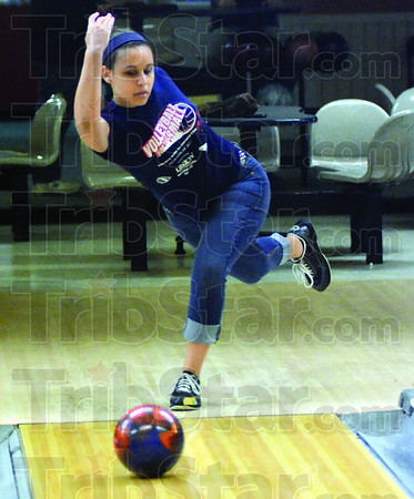 Runner-up: Brittany Wence action at Imperial Lanes Friday afternoon.