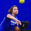 Infielder: Indiana State University softball player Makenzie Connelly from Casey, Illinois works out in the indoor facility Friday aftrnoon.