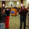 Tribune-Star/Jim Avelis<br /> Approval: A small gathering of Republican party faithful were on hand Tuesday afternoon to hear Larry Buschon announce that he will seek a second term as representative of Indiana's 8th congressional district.