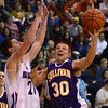 Inside job: Sullivan's Brooks Weszley gets past the defense of Linton's Austin Karazsia for two first half points.