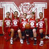 Tribune-Star/Jim Avelis<br /> Hear me roar: The starters for the Marshall High School girl's basketball team are: Kaydie Grooms, Alexis Thompson, Erika Kuhn, Ariana Kuhn and Emily Bishop.