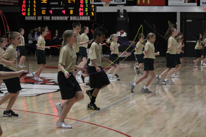 Balls Creek PE Club from Newton, NC performed a jump rope routine during halftime