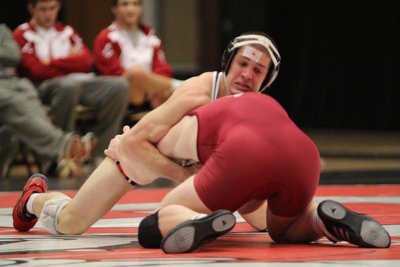GWU's Alex Medved wrestling.