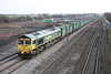 23 February 2012 :: 66561 at South Moreton with 6Z22 'Binliner' from Cricklewood to Appleford