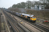 28 February 2012 :: 66742 at Basingstoke with 4Y19, Mountfield to Southampton empty Gypsum wagons