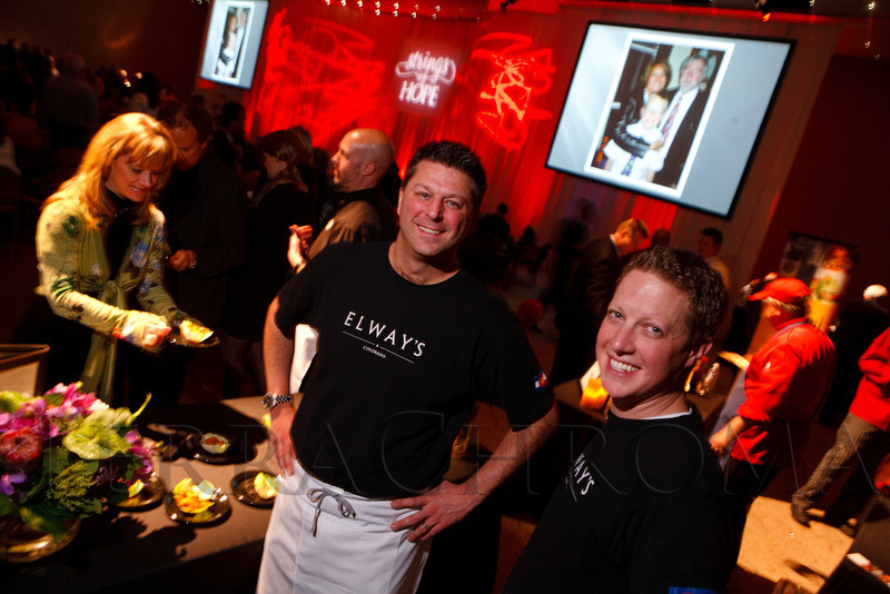 """With Elway's restaurant in Cherry Creek are Tyler Wiard (culinary director) and Aaron Youngblood (sous chef).  """"Strings of Hope,"""" a tribute to Noel Cunningham and fundraiser for the Cunningham Foundation, at The Denver Center for the Performing Arts, Buell Theatre and Seawell Ballroom, in Denver, Colorado, on Thursday, Feb. 2, 2012.  Photo Steve Peterson, Special to the Denver Post"""