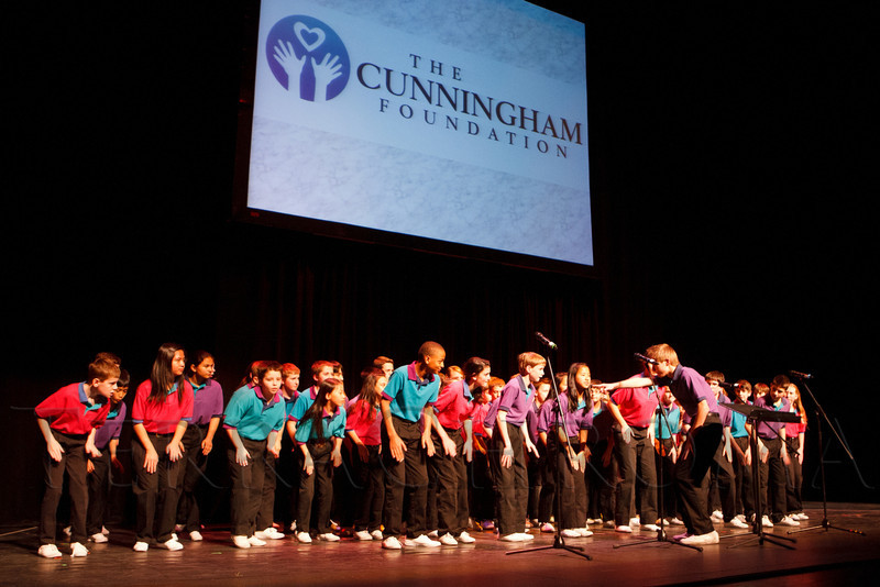 "The Colorado Children's Chorale performs.  ""Strings of Hope,"" a tribute to Noel Cunningham and fundraiser for the Cunningham Foundation, at The Denver Center for the Performing Arts, Buell Theatre and Seawell Ballroom, in Denver, Colorado, on Thursday, Feb. 2, 2012.  Photo Steve Peterson, Special to the Denver Post"