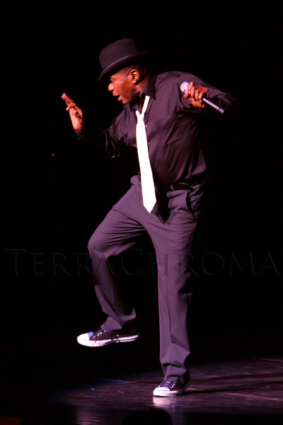 "Ben Vereen performs.  ""Steppin' out with Ben Vereen,"" a concert benefiting Rocky Mountain PBS, at the Newman Center for the Performing Arts, Gates Concert Hall, in Denver, Colorado, on Friday, Feb. 3, 2012.<br /> Photo Steve Peterson"