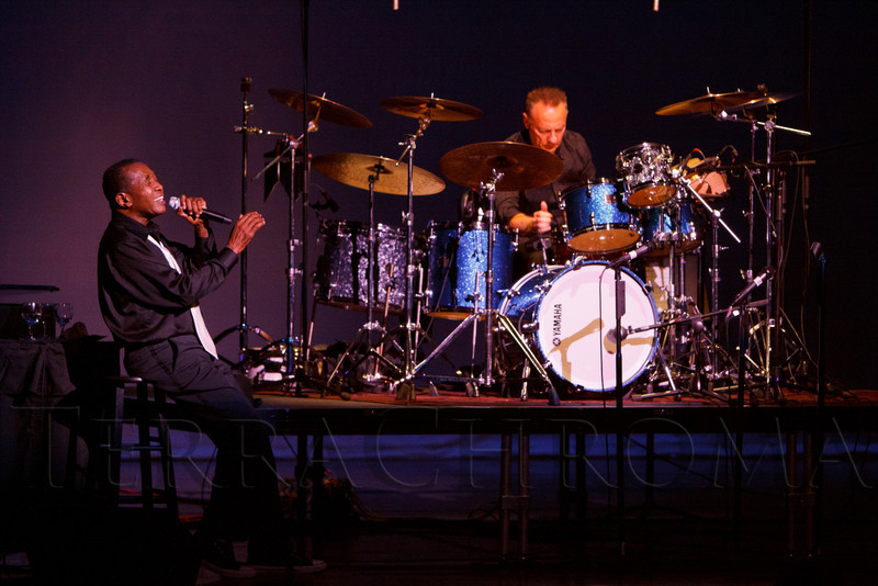 "Ben Vereen with Marc Dicciani on drums.  ""Steppin' out with Ben Vereen,"" a concert benefiting Rocky Mountain PBS, at the Newman Center for the Performing Arts, Gates Concert Hall, in Denver, Colorado, on Friday, Feb. 3, 2012.<br /> Photo Steve Peterson"