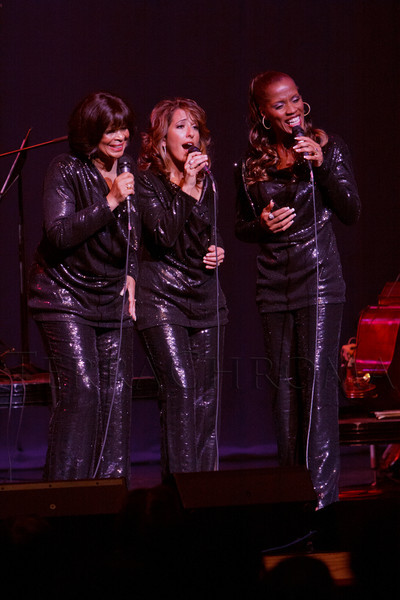 """S.T.A.R.S. Trio (Nadine Risha, Natalie Oliver-Atherton, Carolyne Fuqua).  """"Steppin' out with Ben Vereen,"""" a concert benefiting Rocky Mountain PBS, at the Newman Center for the Performing Arts, Gates Concert Hall, in Denver, Colorado, on Friday, Feb. 3, 2012.<br /> Photo Steve Peterson"""
