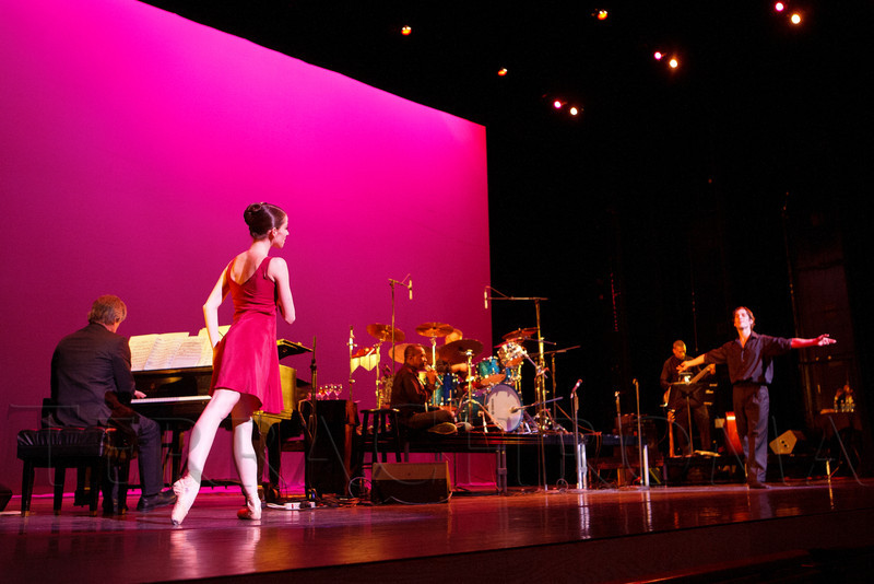 "Caitlin Valentine-Ellis and Christopher Ellis with Colorado Ballet.  ""Steppin' out with Ben Vereen,"" a concert benefiting Rocky Mountain PBS, at the Newman Center for the Performing Arts, Gates Concert Hall, in Denver, Colorado, on Friday, Feb. 3, 2012.<br /> Photo Steve Peterson"