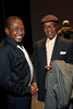 "Ben Vereen and Charles Burrell.  ""Steppin' out with Ben Vereen,"" a concert benefiting Rocky Mountain PBS, at the Newman Center for the Performing Arts, Gates Concert Hall, in Denver, Colorado, on Friday, Feb. 3, 2012.<br /> Photo Steve Peterson"
