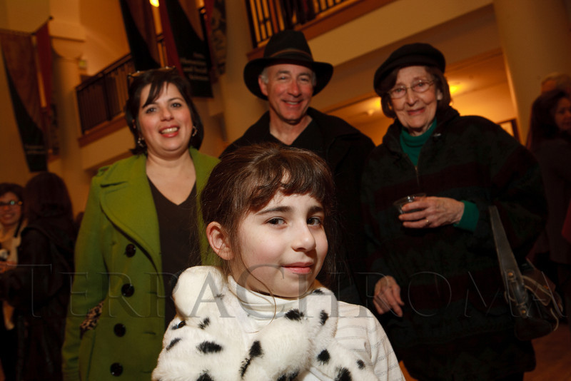 "Patricia, Mia, and Dominic Frederico, and Iris Jeffery.  Mia is a young fan of Ben Vereen due to seeing The Muppets on Netflix.  ""Steppin' out with Ben Vereen,"" a concert benefiting Rocky Mountain PBS, at the Newman Center for the Performing Arts, Gates Concert Hall, in Denver, Colorado, on Friday, Feb. 3, 2012.<br /> Photo Steve Peterson"