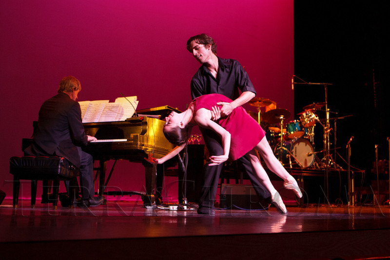 """Caitlin Valentine-Ellis and Christopher Ellis with Colorado Ballet.  """"Steppin' out with Ben Vereen,"""" a concert benefiting Rocky Mountain PBS, at the Newman Center for the Performing Arts, Gates Concert Hall, in Denver, Colorado, on Friday, Feb. 3, 2012.<br /> Photo Steve Peterson"""