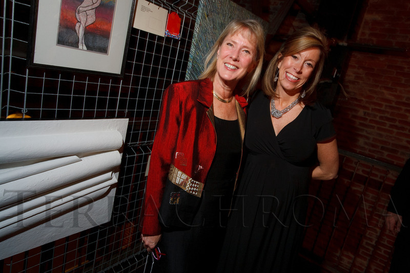 "Ellen Gysin and Jean Bushong.  ""ArtReach Dine & D'art,"" benefiting ArtReach Denver, at Mile High Station in Denver, Colorado, on Saturday, Feb. 4, 2012.<br /> Photo Steve Peterson"