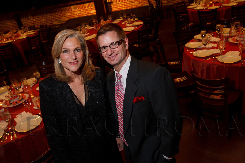 "Evenr co-chairs, Lark Katchur and Joe McCormack.  ""ArtReach Dine & D'art,"" benefiting ArtReach Denver, at Mile High Station in Denver, Colorado, on Saturday, Feb. 4, 2012.<br /> Photo Steve Peterson"