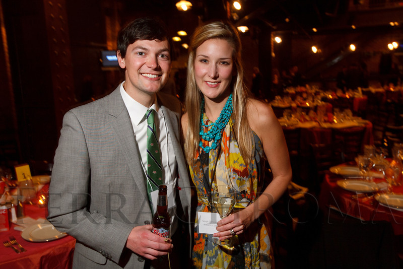 "Alex and Sarah Dempster.  ""ArtReach Dine & D'art,"" benefiting ArtReach Denver, at Mile High Station in Denver, Colorado, on Saturday, Feb. 4, 2012.<br /> Photo Steve Peterson"