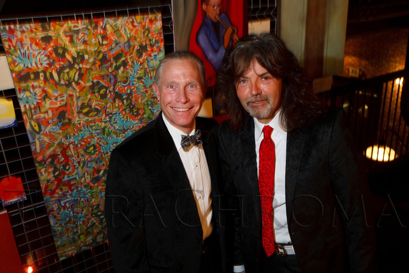 "Lawrence French and Gregory Sargowicki.  ""ArtReach Dine & D'art,"" benefiting ArtReach Denver, at Mile High Station in Denver, Colorado, on Saturday, Feb. 4, 2012.<br /> Photo Steve Peterson"