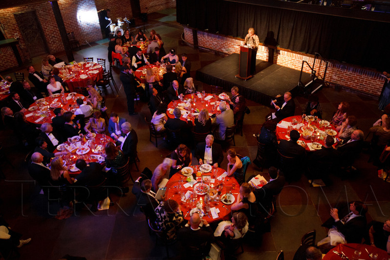 "Dinner before D'art-ing.  ""ArtReach Dine & D'art,"" benefiting ArtReach Denver, at Mile High Station in Denver, Colorado, on Saturday, Feb. 4, 2012.<br /> Photo Steve Peterson"