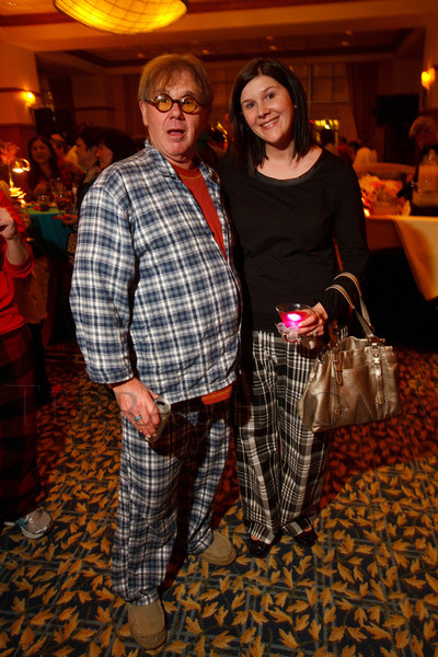 "Chuck Morris and Brittany Morris.  ""Seventh Annual PJ Day,"" benefiting Denver's Road Home, at the Residence Inn Denver City Center in Denver, Colorado, on Thursday, Feb. 9, 2012.<br /> Photo Steve Peterson"