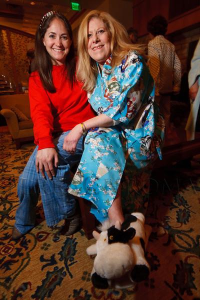 "Alexxa Gagner and Judy Schneider.  ""Seventh Annual PJ Day,"" benefiting Denver's Road Home, at the Residence Inn Denver City Center in Denver, Colorado, on Thursday, Feb. 9, 2012.<br /> Photo Steve Peterson"
