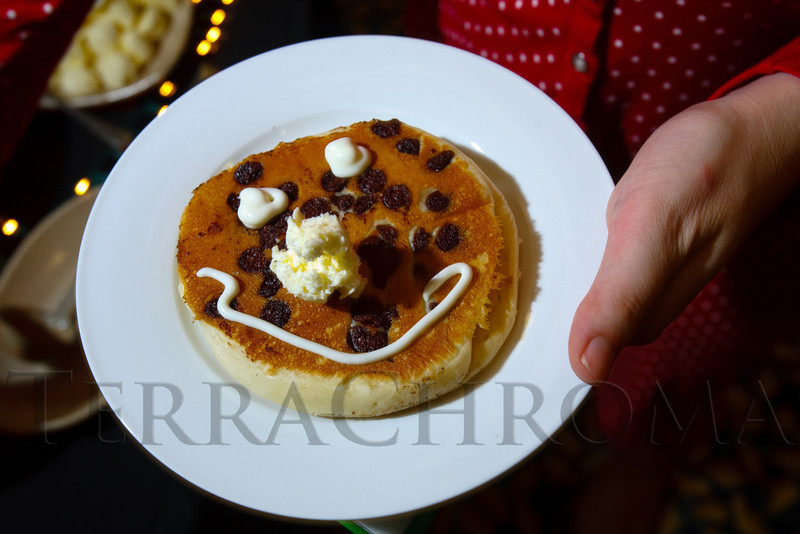"Mel Torgusen's happy face pancake.  ""Seventh Annual PJ Day,"" benefiting Denver's Road Home, at the Residence Inn Denver City Center in Denver, Colorado, on Thursday, Feb. 9, 2012.<br /> Photo Steve Peterson"