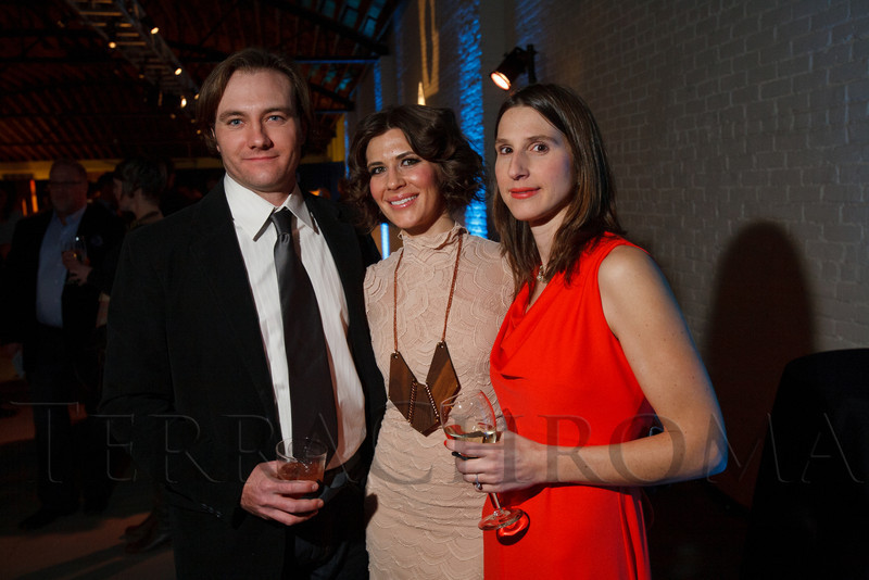 "Dru Schwyhart, Megan Hudacky, and Leila Schwyhart.  Design After Dark 2012, themed ""bespoke,"" benefiting the Denver Art Museum, at 445 Broadway in Denver, Colorado, on Friday, Feb. 10, 2012.<br /> Photo Steve Peterson"