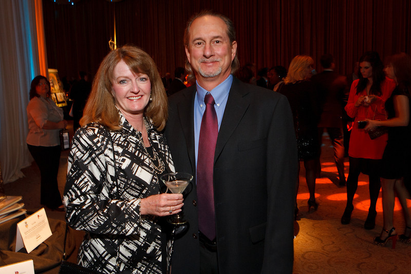"""Lori and Mark Rothwell.  Benefit for InnovAge, formerly Total Community Options Foundation, themed, """"Early Bird Special,"""" at the Donald R. Seawell Grand Ballroom, Denver Center for Performing Arts, in Denver, Colorado, on Saturday, Feb. 18, 2012.<br /> Photo Steve Peterson"""