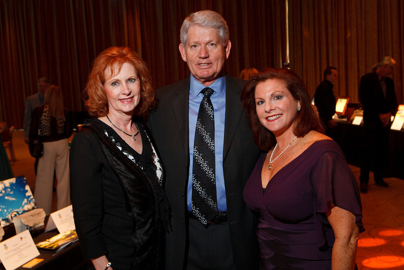 """Carol and Don Marostica with Leslie Karotkin (InnoVage executive director).  Benefit for InnovAge, formerly Total Community Options Foundation, themed, """"Early Bird Special,"""" at the Donald R. Seawell Grand Ballroom, Denver Center for Performing Arts, in Denver, Colorado, on Saturday, Feb. 18, 2012.<br /> Photo Steve Peterson"""