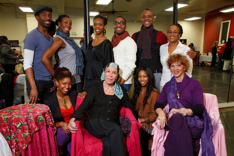 """Reception for Julie Belafonte, aiding Cleo Parker Robinson Dance in the production of Katherine Dunham's ballet, """"Southland,"""" at Cleo Parker Robinson Dance in Denver, Colorado, on Saturday, Feb. 18, 2012.<br /> Photo Steve Peterson"""
