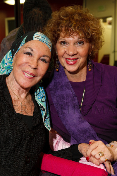 "Julie Belafonte and Cleo Parker Robinson.  Reception for Julie Belafonte, aiding Cleo Parker Robinson Dance in the production of Katherine Dunham's ballet, ""Southland,"" at Cleo Parker Robinson Dance in Denver, Colorado, on Saturday, Feb. 18, 2012.<br /> Photo Steve Peterson"