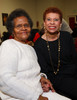 "Roberta Freeman and Tish Williams.  Reception for Julie Belafonte, aiding Cleo Parker Robinson Dance in the production of Katherine Dunham's ballet, ""Southland,"" at Cleo Parker Robinson Dance in Denver, Colorado, on Saturday, Feb. 18, 2012.<br /> Photo Steve Peterson"