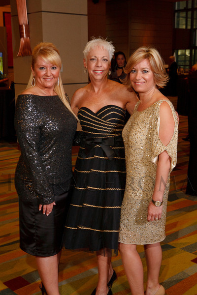 Kasia Iwaniczko, Lois Paul, and Megan Fearnow.  Excelsior Youth Center gala at the Hyatt Regency Denver at the Colorado Convention Center in Denver, Colorado, on Friday, Feb. 24, 2012.<br /> Photo Steve Peterson
