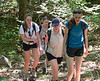 Isabel, Chantal, Mary, and Kira hiking