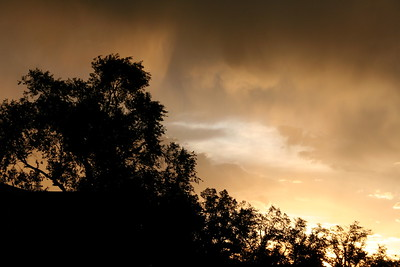 Smoky sunset from my house