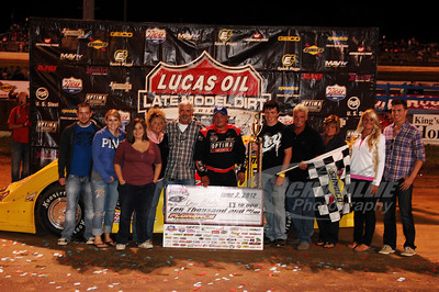 Don O'Neal in Victory Lane with the Ralph Latham Family
