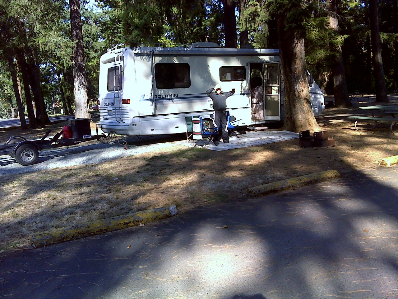 Our camp site on the way down to Foots Creek,OR. Stanton County Park very nice and right off I-5