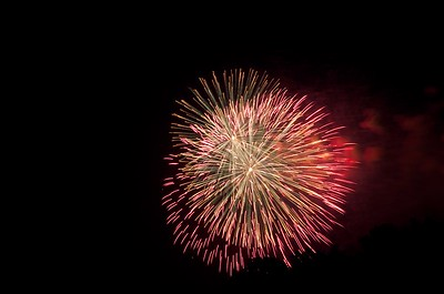 July 4, 2012 - DC Fireworks viewed from Gravelly Point Park in Arlington, VA